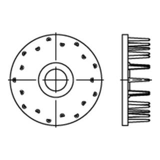 DIN 1052 Holzverbinder Temperg Typ D, gal Zn, eins., 80 ÜH gal Zn S