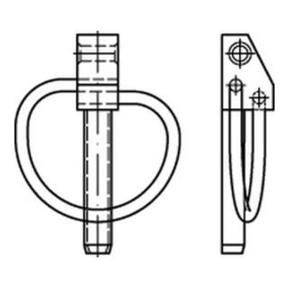 DIN 11023 Klappstecker 6 x 42 gal Zn 8 DiSP (Dickschichtpass.) gal ZnDi S