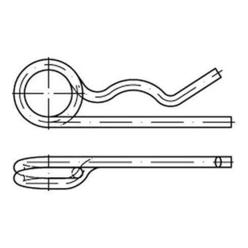 DIN 11024 Federstecker, Stahl, galvanisch verzinkt