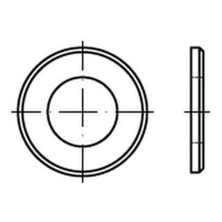 DIN 125 Scheibe Stahl B 6,4mm galvanisch verzinkt schwarz chromatiert mit Fase Form B