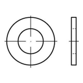 DIN 125-A/ISO 7089 Unterlegscheibe flach ohne Fase