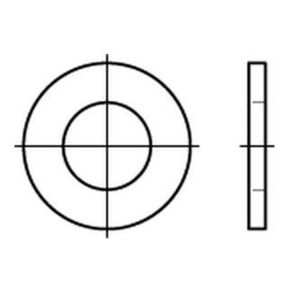 DIN 126 Flache Scheibe Stahl 15,5mm galv. verzinkt ohne Fase