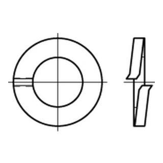 DIN 127 Federring Form A dickschichtpassiviert