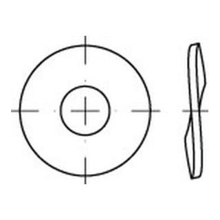 DIN 137, Federstahl, Form B, 30mm mech. verzinkt