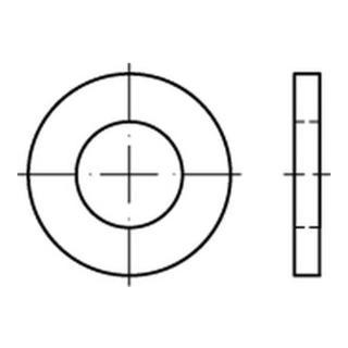 DIN 1440 Flache Scheibe Edelstahl A2 8mm Produktklasse A