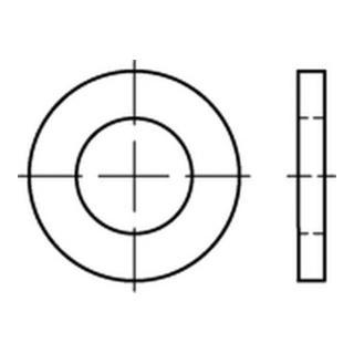 DIN 1441 Flache Scheibe Stahl 24mm galv. verzinkt Produktklasse C