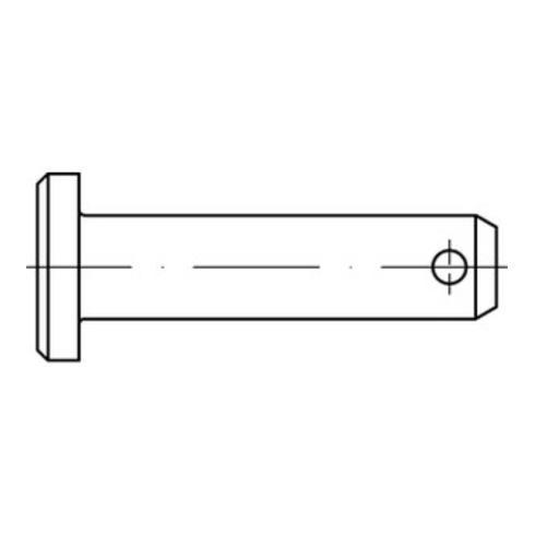 DIN 1444 Form B Splintlochbolzen galv. verzinkt Stahl