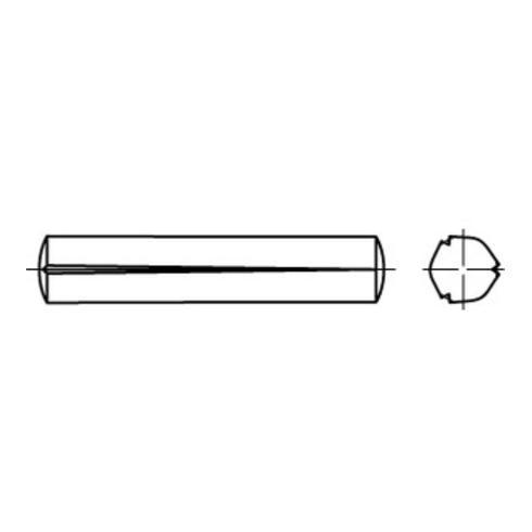 DIN 1471 Kegelkerbstifte, Stahl, blank