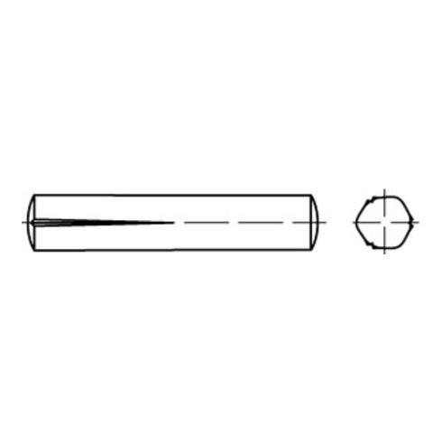 DIN 1472 Passkerbstifte, Stahl, blank
