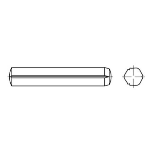 DIN 1473 Zylinderkerbstifte, Edelstahl A1, blank