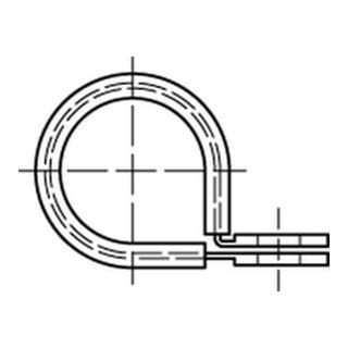 Halterungsschelle DIN 3016 Form D