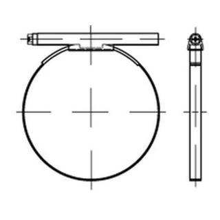 DIN 3017 Schlauchschellen, mit Schneckenantrieb A 4 50- 70/12 C7 -W5 Niro-Sta