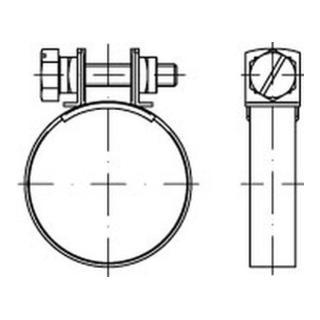 Schlauchschelle DIN 3017 mit Spannbacken Form B