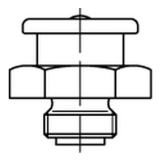 DIN 3404 Flachschmiernippel 5.8 M 6 x 1 SW 11 runder Kopf galv. verzinkt