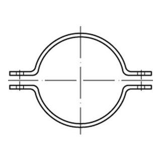 Rohrschelle DIN 3567 Form A