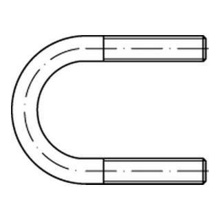 DIN 3570 Rundstahlbügel Stahl A 82 / NW 65 M 12 galva