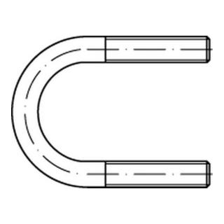 Rohrschelle DIN 3570 mit Rundstahlbügel Form A