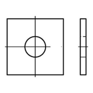 DIN 436 Scheibe Standard/für Holzkonstruktionen Stahl 13,5mm galvanisch verzinkt