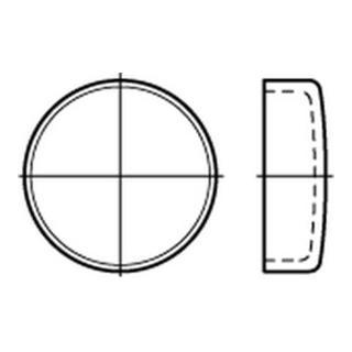 DIN 443 B Verschlussdeckel Stahl