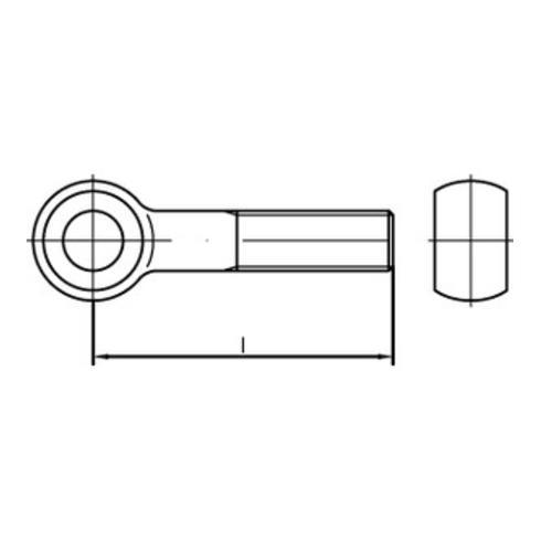 DIN 444 Form B Augenschraube M16x60 Edelstahl A4 blank
