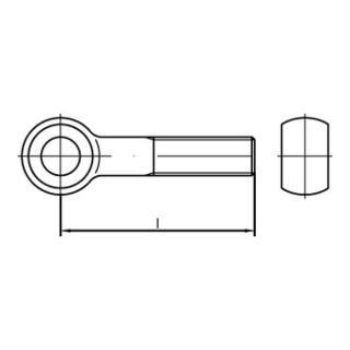 DIN 444 Form B Augenschraube M6x40 Stahl 4.6 galvanisch verzinkt