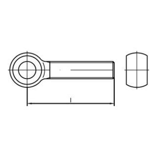 DIN 444 Form LB Augenschraube VG M16x100 Stahl 4.6 galvanisch verzinkt