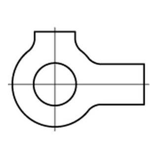 DIN 463 Flache Scheibe Edelstahl A4 10,5mm mit 2 Lappen