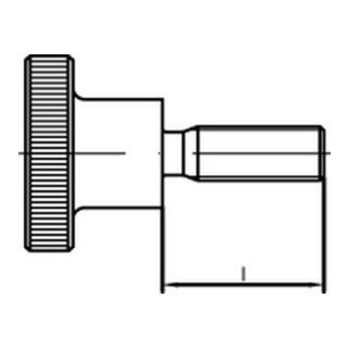 DIN 464 Rändelschraube hohe Form VG M4x16 Stahl blank