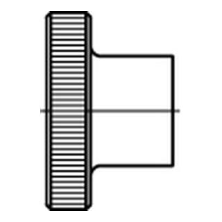 DIN 466 Rändelmuttern 5 M 4 galvanisch verzinkt gal