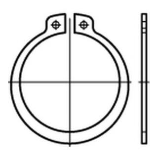 DIN 471 Sicherungsringe 1.4122 12 x 1 rostfreiei S