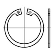 Sicherungsringe für Bohrungen Regelausführung DIN 472 Federstahl blank Ø 31-70