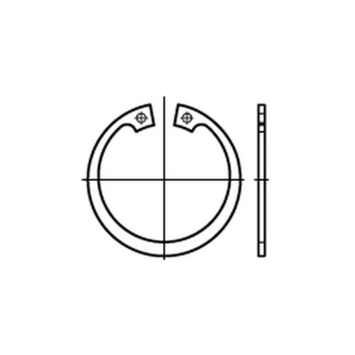 Seegerring 3 Stück Sicherungsring für Bohrung 58 mm DIN 472 Federstahl 58x2,0