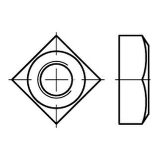 DIN 557 Vierkantmuttern A 2 M 10 SW 17 A 2 S
