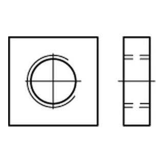 DIN 562 Vierkantmutter niedrige Form