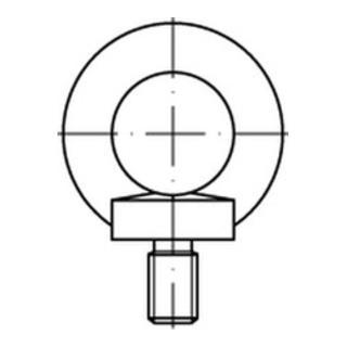 DIN 580 Ringschraube VG M24 Edelstahl A2 blank