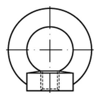 DIN 582 C Ringmuttern C15E M 16 S