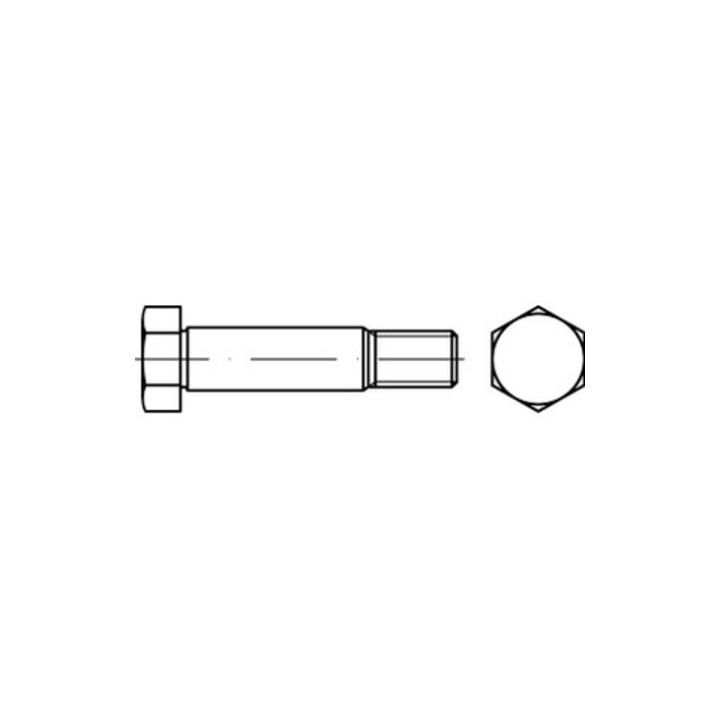DIN 610 Sechskant-Paßschrauben mit kurzem Gewinde M 10 x 70 8.8 blank