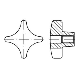 DIN 6335 Grauguß D100 M 20 m. Gewinde-Durchloch S