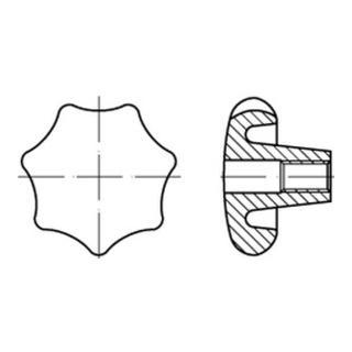 DIN 6336 Grauguß D 80 M 16 m. Gewinde-Durchloch S