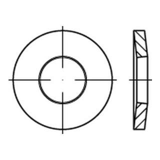 200 Stück Spannscheiben DIN 6796 Edelstahl A2   4,0 für M 4