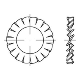 DIN 6798 CuSn8 Form A Fächerscheiben 1.4310 Form A Fächerscheiben A 6,4 rostfreiei K