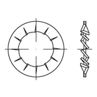 DIN 6798 Form I Fächerscheibe