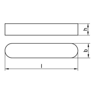 DIN 688 Passfedern, hohe Form, rundstirnig A 4 A 14 x 9 x 56 A 4 S