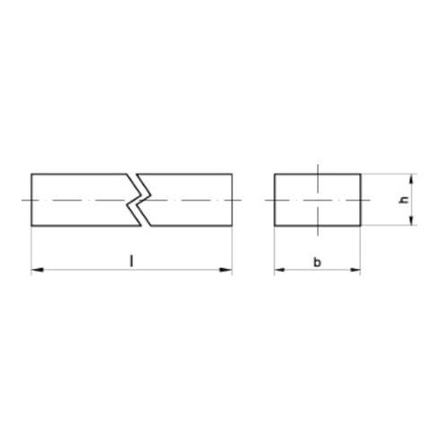 DIN 6880 Keilstahl Stahl (C45+C) 14 x 9 x 1000 S