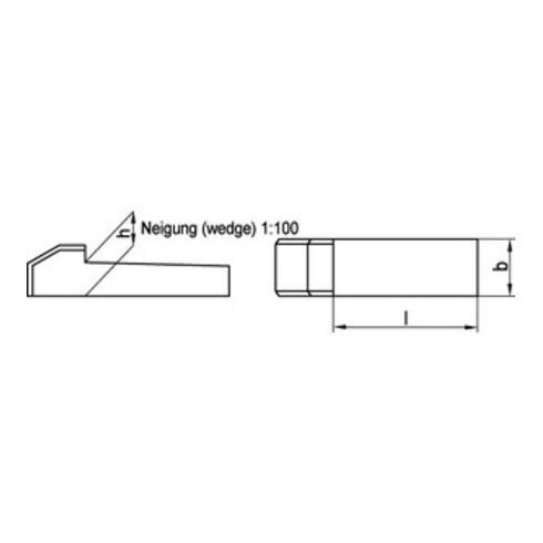 DIN 6887 Nasenkeile C45K 12 x 8 x 56 S