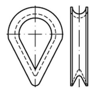 DIN 6899 Stahl BF 9 / RW 10 galv. verzinkt gal Zn S