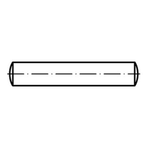 DIN 7 Zylinderstifte, Stahl, blank