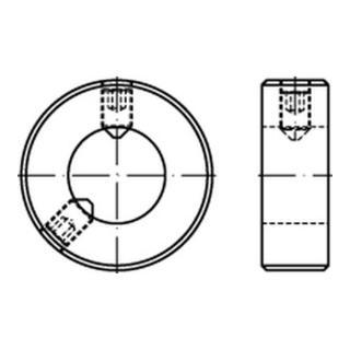 DIN 703 Stellringe schwere Reihe ein Gewindestift mit Schlitz