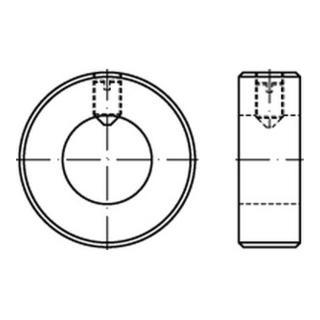 DIN 705 Stellring Form A mit Gewindestift und Schlitz