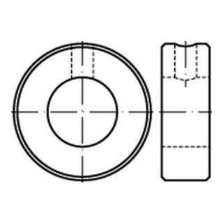 DIN 705 Stellring Form B mit Gewindestift und Schlitz